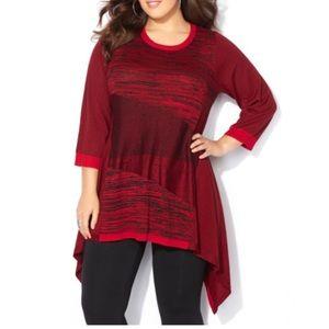 Red black stripe sweater size 18/20